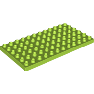 LEGO Duplo podložka 6 X 12 zelená
