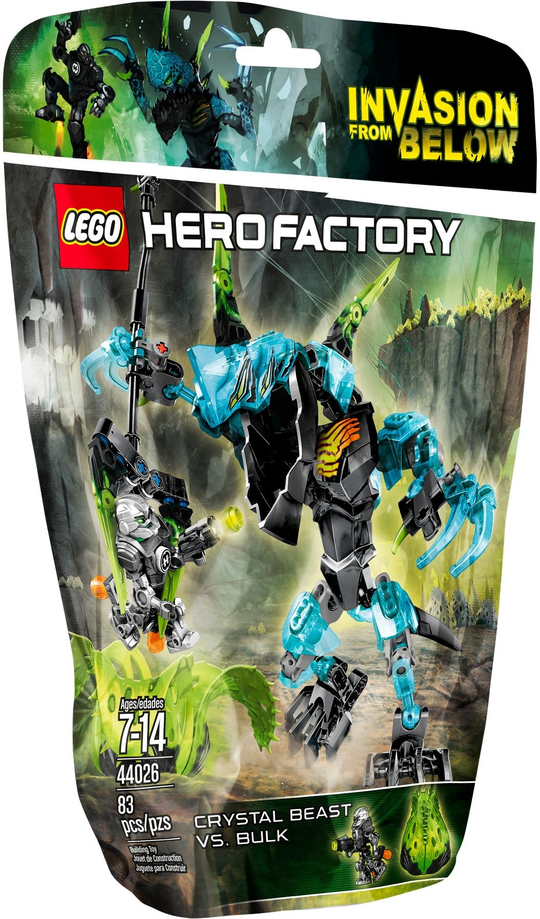 LEGO Hero Factory 44026 Monstrum Crystal versus Bulk