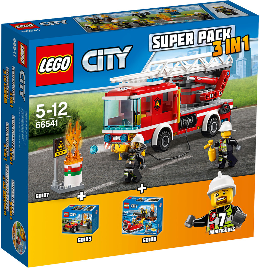 LEGO City 66541 Hasiči Superpack 3v1