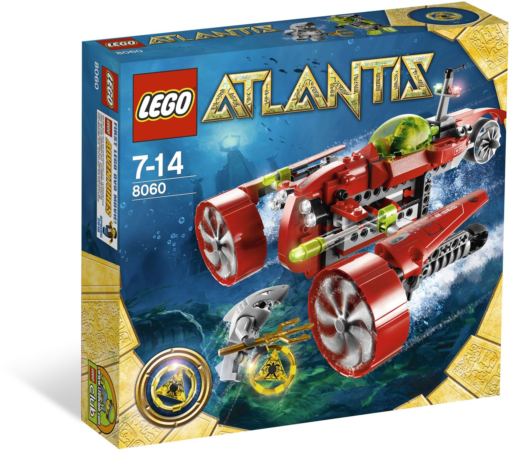 LEGO Atlantis 8060 Tajfunová turbo ponorka