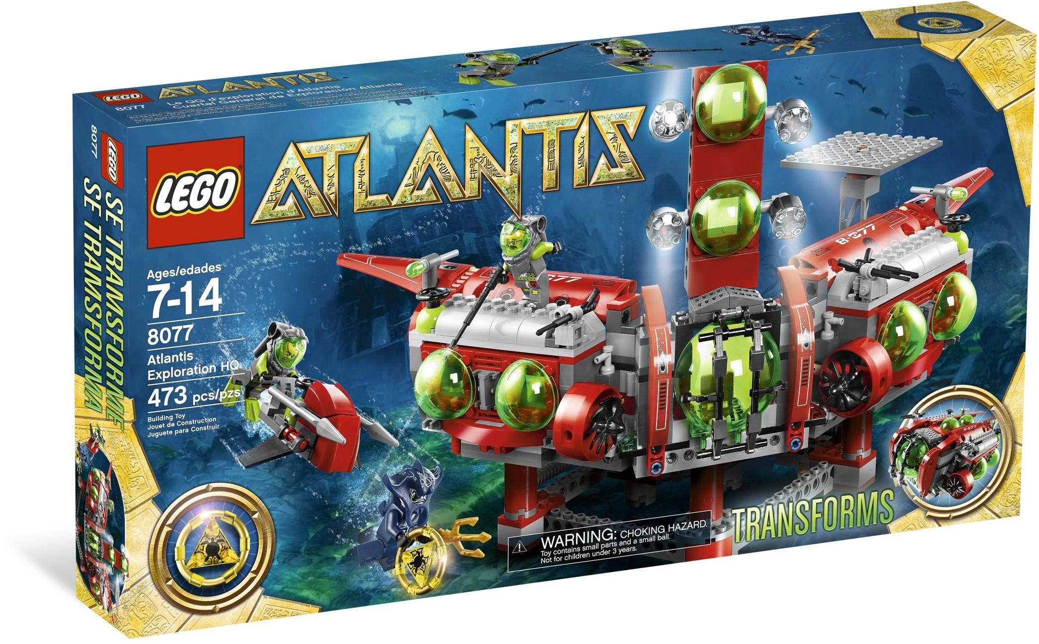 LEGO Atlantis 8077 Výzkumné ústředí Atlantidy