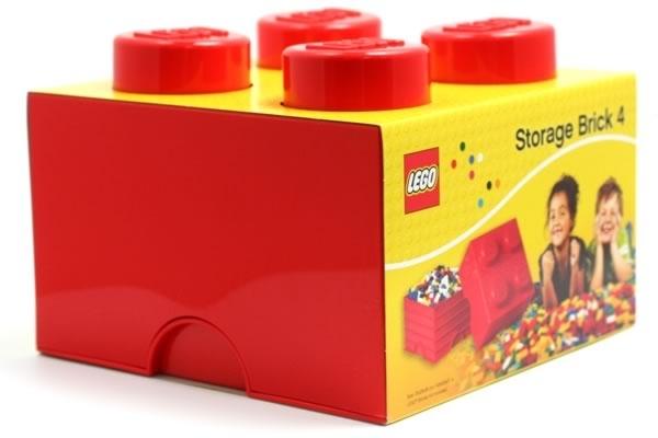 LEGO Storage box 4 červený
