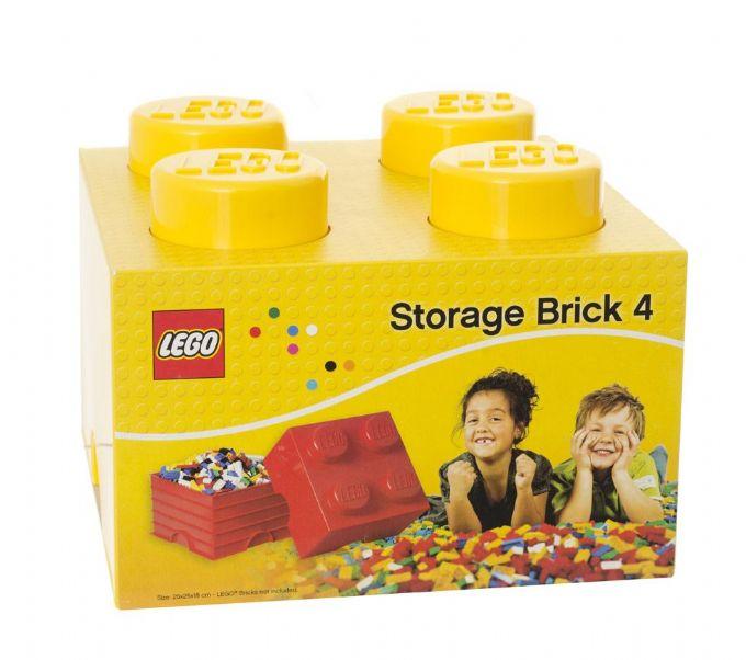 LEGO Storage box 4 žlutý